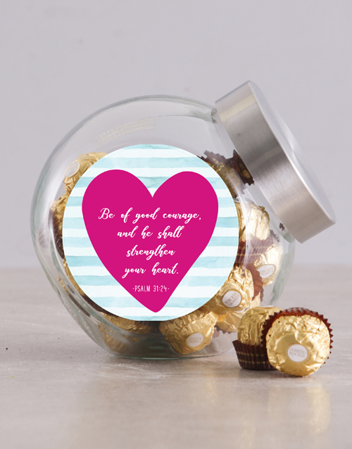 christmas: Psalm of Courage Candy Jar!