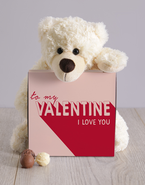 chocolate: To My Valentine Teddy Hamper!
