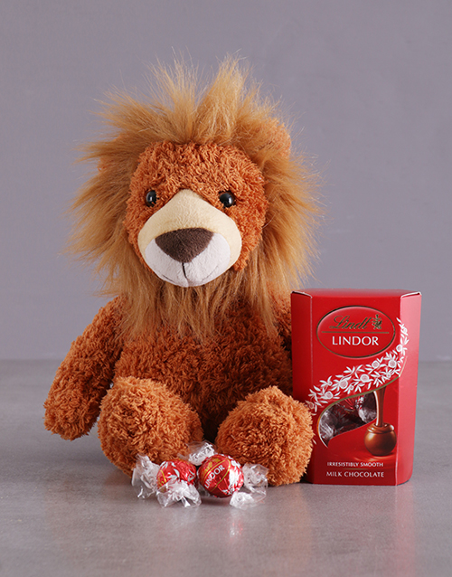 teddy-bears: Lion And Lindt Hamper!