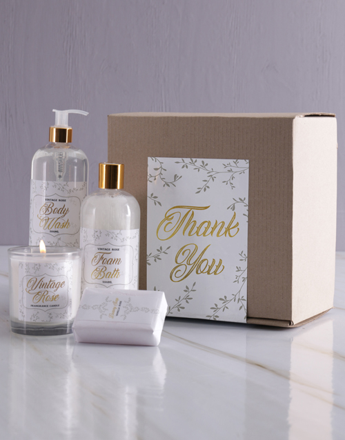 mothers-day: Vintage Rose Golden Gift Set!