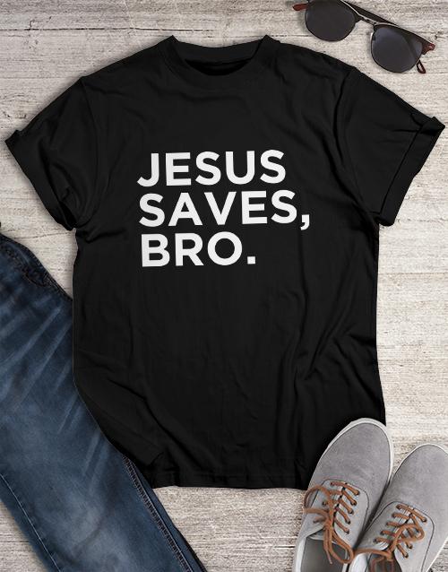 clothing: Jesus Saves Christian Shirt!