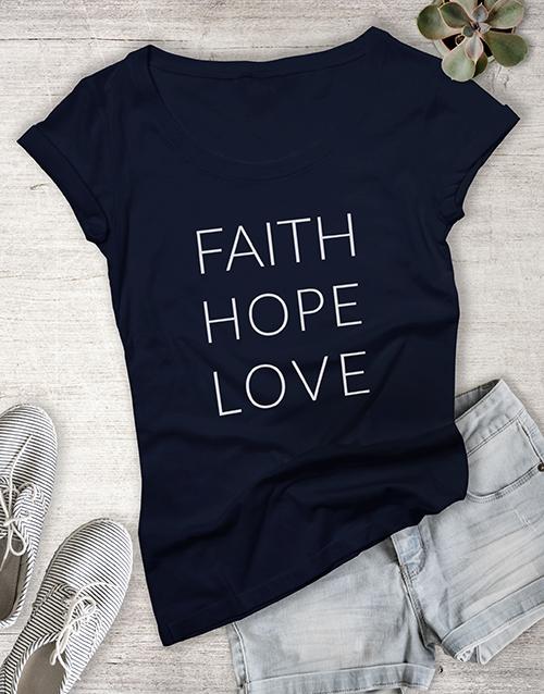 personalised: Ladies Hope And Love Shirt!