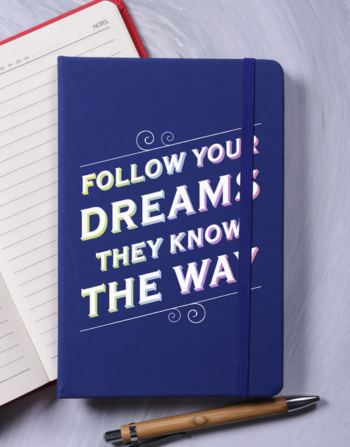 notebooks: Follow your Dreams A5 Notebook!