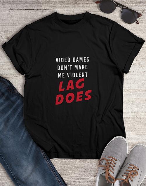 clothing: Lag Did It Gaming Tshirt!