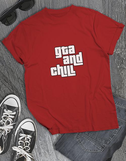 clothing: GTA and Chill Gaming Tshirt!