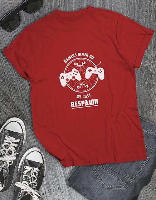 clothing: Gamers Respawn Tshirt!