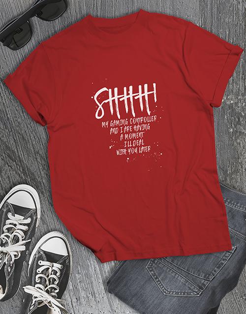 clothing: Shhh Gaming Tshirt!