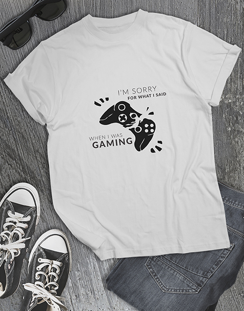 gifts: Gamers Apology Tshirt!