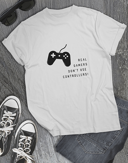 clothing: Real Gamers Dont Use Controllers Tshirt!