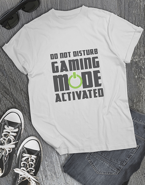 gifts: Gaming Mode Activated Tshirt!