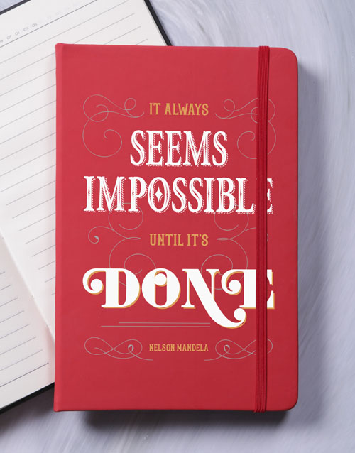 bosses-day: Nothing is Impossible A5 Notebook!