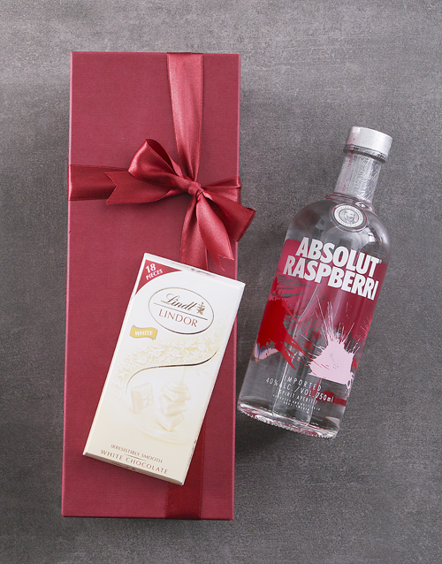 fine-alcohol: Red Box of Absolut Raspberry!