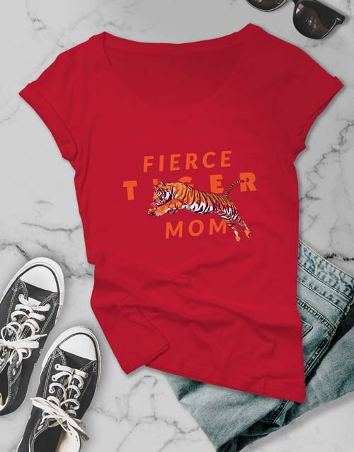 mothers-day: Fierce Tiger Mom Ladies T Shirt!
