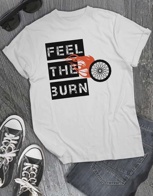 clothing: Feel The Burn Cycling T Shirt!