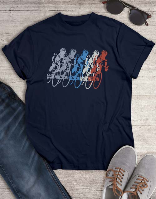 clothing: Vintage Cycling Graphic T Shirt!