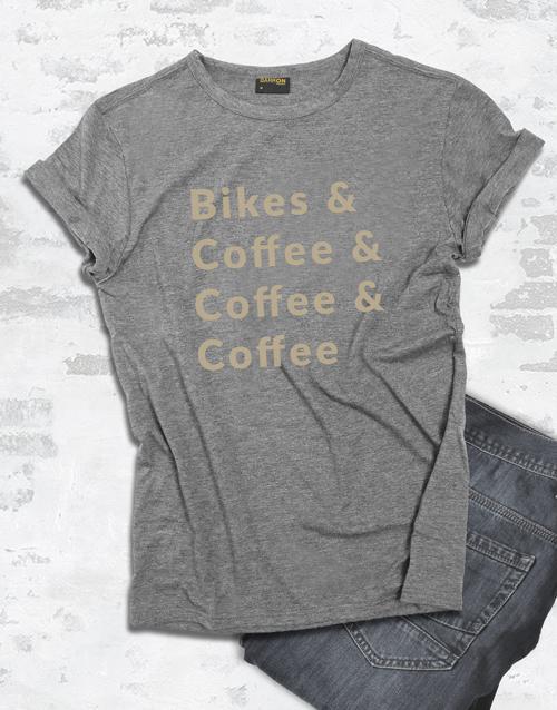 clothing: Bike And Coffee T Shirt!
