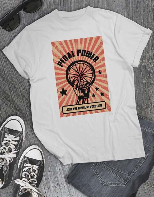 clothing: Pedal Power T Shirt!