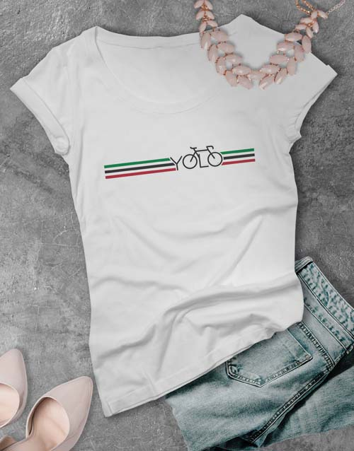 clothing: Yolo Cycling Ladies T Shirt!
