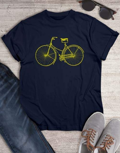 clothing: Front View Bicycle T Shirt!