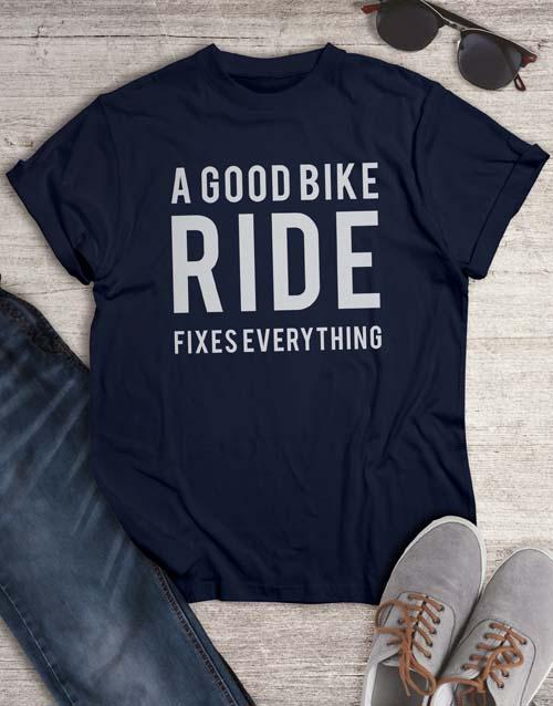 clothing: A Good Bike Ride T Shirt!