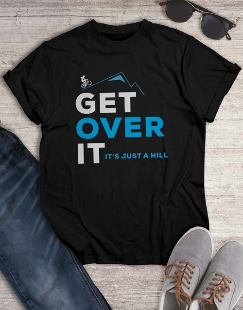 clothing: Get Over It Cycling T Shirt!