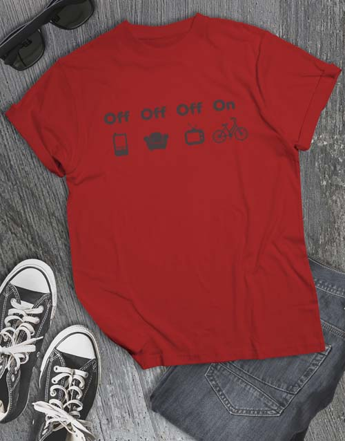 clothing: Life Off Bicycle On T Shirt!