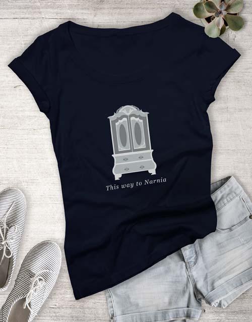 clothing: Door To Narnia Ladies T Shirt!