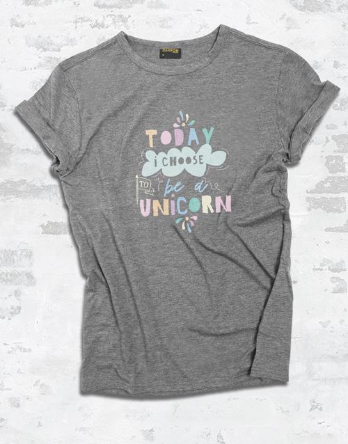 clothing: Be A Unicorn Ladies T Shirt!