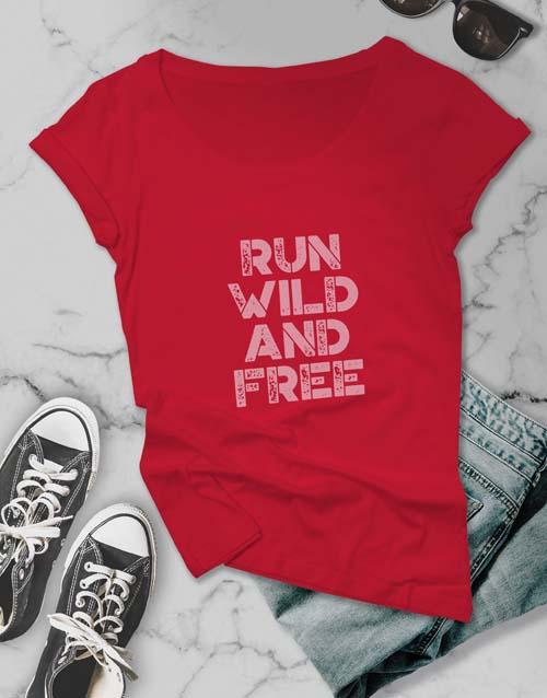 clothing: Run Free Ladies T Shirt!