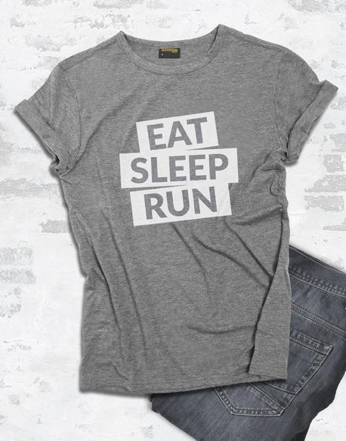 clothing: Eat Sleep Run T shirt!