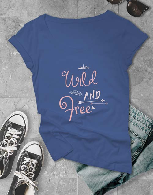 clothing: Wild And Free Ladies T Shirt!