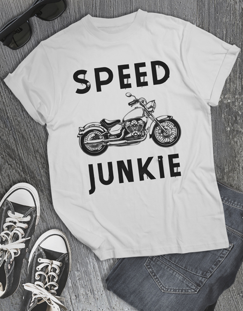 clothing: Speed Junkie Motorcycle T Shirt!