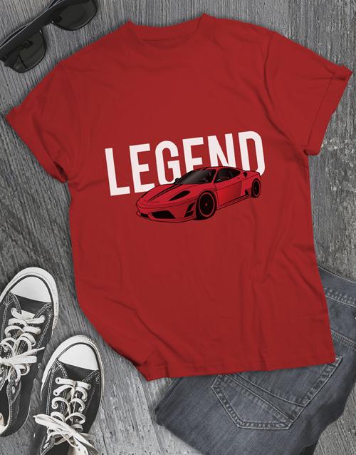 clothing: Boss Race Car T Shirt!