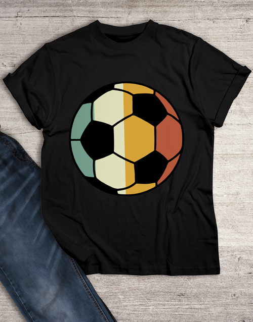 personalised: Vintage Colour Soccer Ball T Shirt!