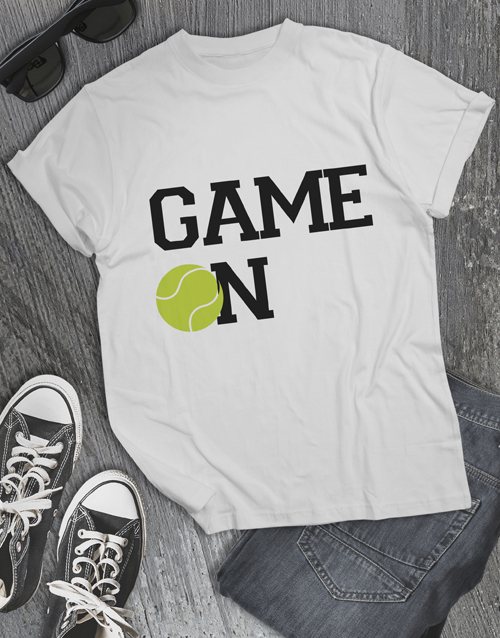 clothing: Tennis Game On T Shirt!