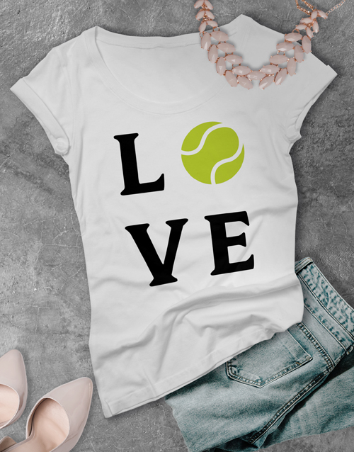 personalised: Love Tennis Ladies T Shirt!