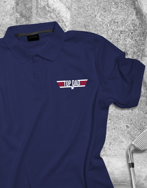 fathers-day: Top Dad Printed Polo Shirt!