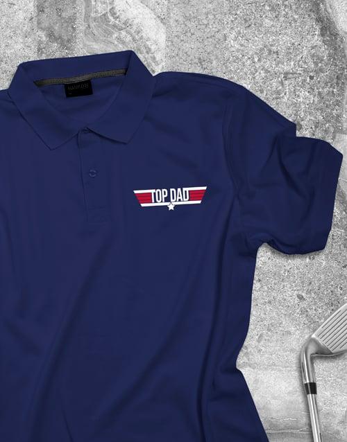 clothing: Top Dad Printed Polo Shirt!