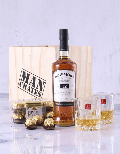 birthday: Bowmore 12 Year Man Crate!