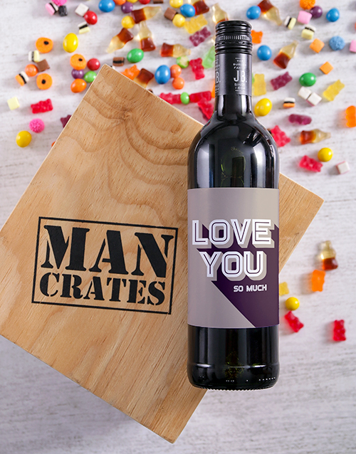 christmas: Love You Wine Man Crate!