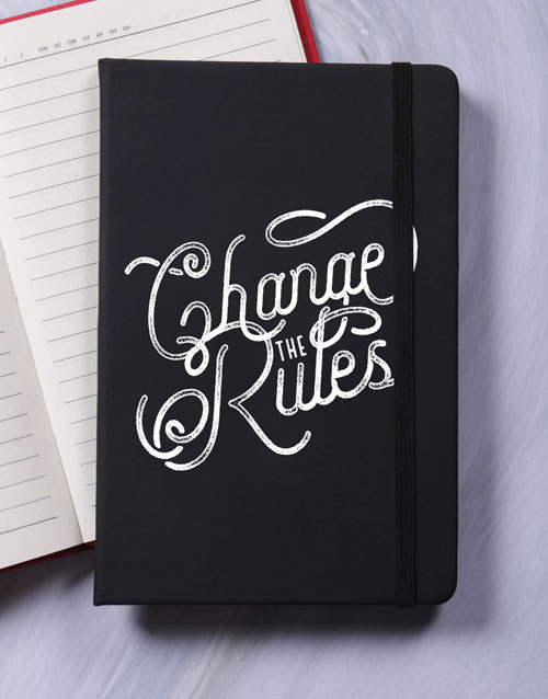 notebooks: Change The Rules A5 Notebook!
