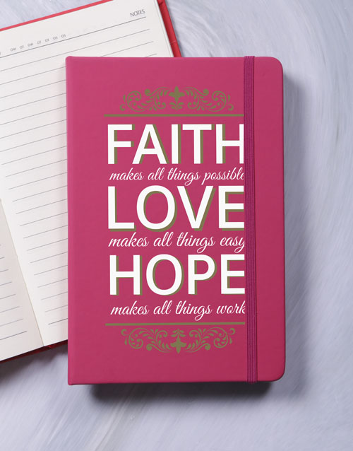 mothers-day: Faith Hope Love A5 Notebook!
