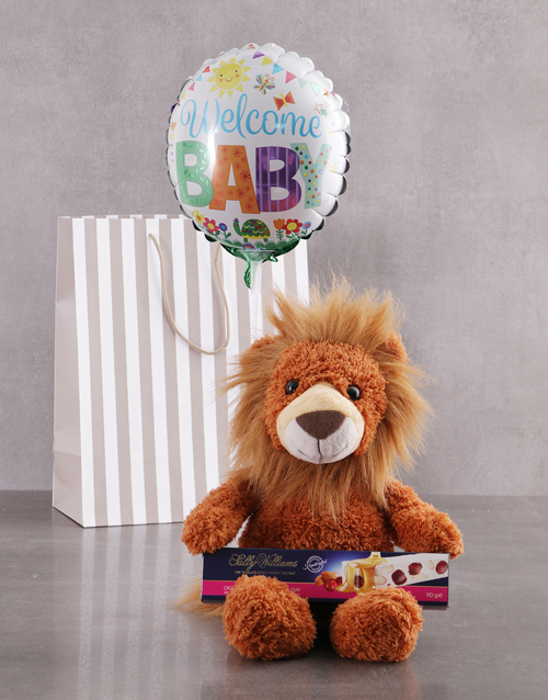 baby: Lion And Balloon Gift Set!