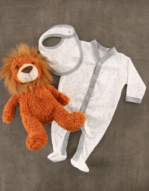 baby: Baby Lion Striped Gift Set!