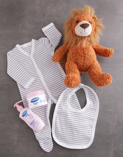 baby: Baby Boy and Lion Gift Set!