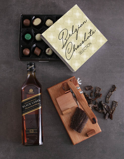 gourmet: Johnnie Walker Black Sweet And Salty Hamper!