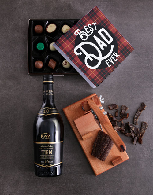 fathers-day: Brandy Biltong And Truffle Hamper For Dad!