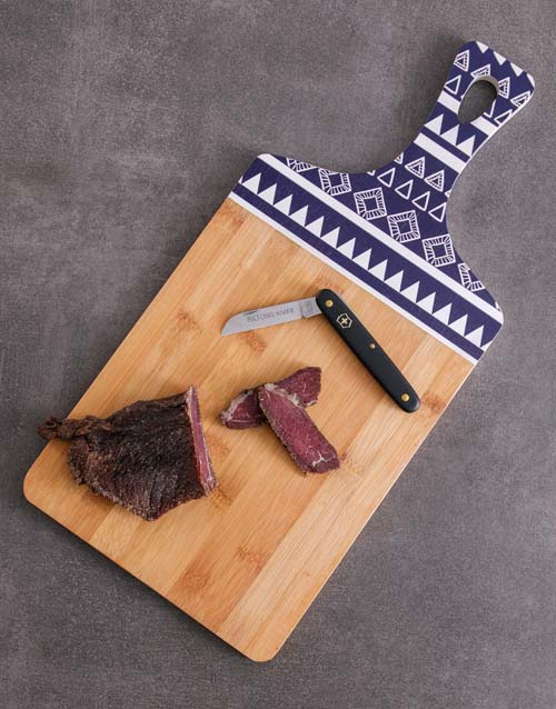 fathers-day: Knife and Chopping Board Biltong Hamper!