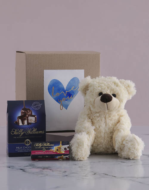 chocolate: Love you Teddy and Nougat Gift Hamper!