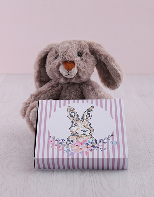 easter: Bunny with Choc Tray Hamper!